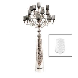 """Канделябр на 17 свечей """"Белый"""" 180 x 75см"""