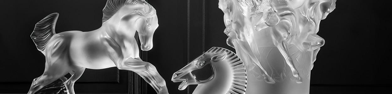 Статуэтки Лошади Lalique