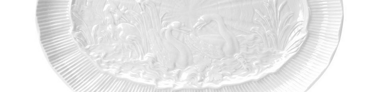 Лебединый сервиз белый