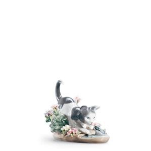 """Статуэтка """"Кошка и лягушка"""" 9 x 12см"""