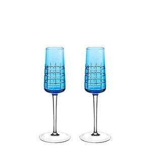 """Набор из 2 флюте для шампанского """"Синий"""" 170мл"""