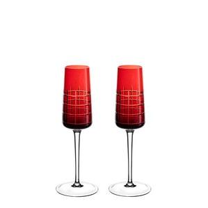 """Набор из 2 флюте для шампанского """"Красный"""" 170мл"""