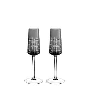 """Набор из 2 флюте для шампанского """"Серый"""" 170мл"""