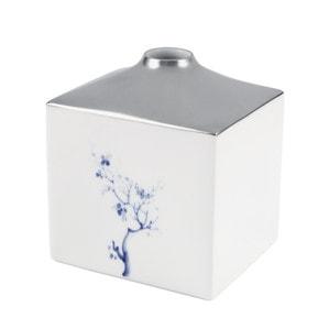 Ваза COSMOPOLITAN, Blue Orchid Platinum, H 13 cm