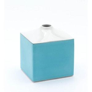 Ваза COSMOPOLITAN, Miami Style,Turquoise sea, H 13 cm