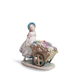 """Статуэтка """"С цветами на рынок"""" 23 x 23см"""