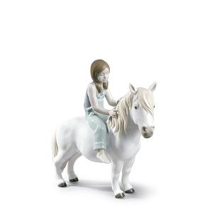 "Статуэтка ""Девушка на пони"" 25 x 11см"