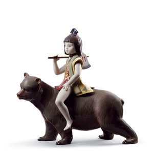 "Статуэтка ""Кинтаро и медведь"" 30 x 31см"