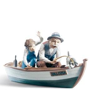 """Статуэтка """"Рыбаки в лодке"""" 22 x 39см"""