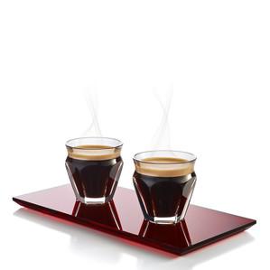 Стаканов стаканов для эспрессо, 2шт. 90мл с подставкой