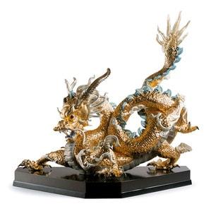 """Статуэтка """"Великий дракон (золотой)"""" 74 x 70см"""