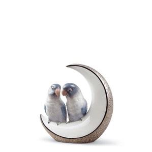 "Статуэтка ""Улетим на луну (серебряный)"" 16 x 15см"