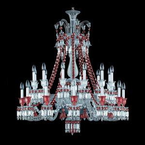 """Люстра на 24 свечей """"Красный"""" 116 x 108см"""