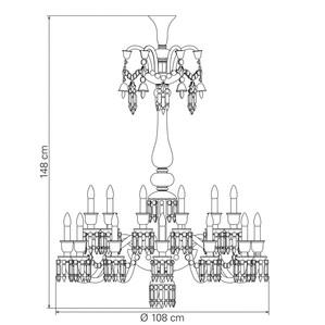 Люстра на 24 свечей (длинный) 148 x 108см