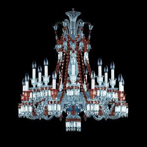 """Люстра на 18 свечей """"Красный"""" 110 x 102см"""