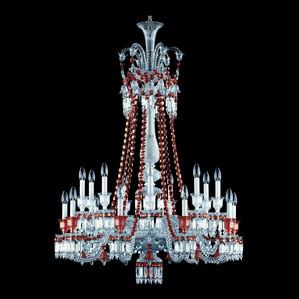 """Люстра на 18 свечей (длинный) """"Красный"""" 137 x 102см"""