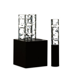 """Настольная лампа на 4 лампы """"Чёрный"""" 32 x 16см"""