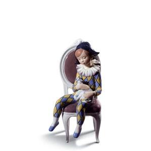 """Статуэтка """"Маленький Арлекин (синий / желтый)"""" 26 x 13см"""