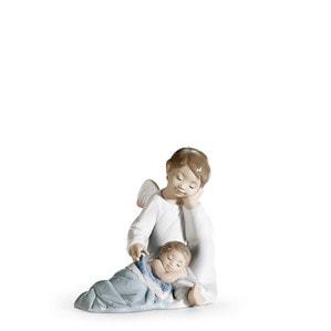 """Статуэтка """"Мой ангел-хранитель (синий)"""" 14 x 14см"""