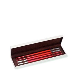 """Палочки для суши """"Красный"""" 24см"""