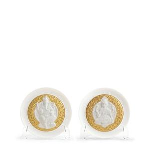 "Набор декоративных тарелок ""Богиня Лакшми и Бог Ганеша"" 10 x 21см"