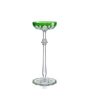 """Бокал-блюдце """"Шале"""" для шампанского """"Зеленый"""" 180мл"""