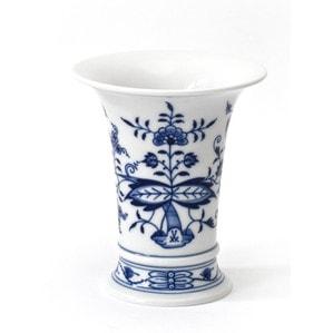 """Ваза """"Neuer Ausschnitt"""", Zwiebelmuster, kobaltblau, weißer Rand, H 14 cm"""