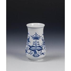 Ваза Zwiebelmuster, kobaltblau, weißer Rand, H 10 cm