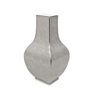 Ваза Mesh,grau mit PlatinveredelungPlatinrand, H 25,5 cm