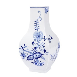 """Ваза Zwiebelmuster """"Style"""" kobaltblau, weißer Rand, H 25,5 cm"""