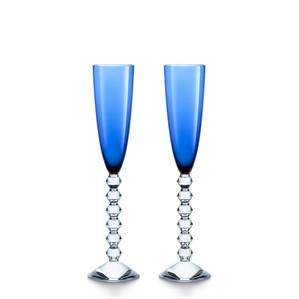 """Флюте для шампанского """"Синий"""", 2шт. 180мл"""