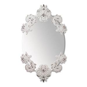 Овальное зеркало без рамки (белый / серебристый) 92 x 53см