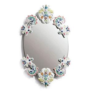Овальное зеркало без рамки (разноцветный) 92 x 53см