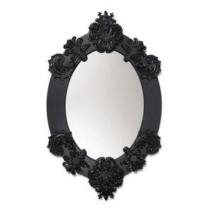 Зеркало овальное с рамкой (черный) 93 x 58см
