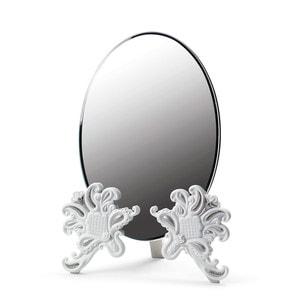 """Зеркало настольное """"Vanity (белый / серебристый)"""" 41 x 29см"""