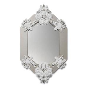 Восьмиугольное зеркало (белый) 80 x 50см