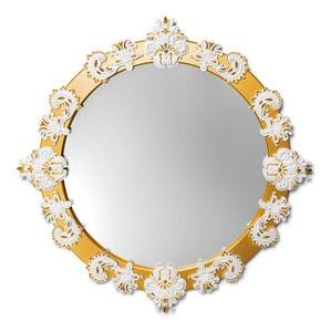 Зеркало круглое (белый / золотой) 124 x 124см