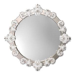 Зеркало круглое (белый / серебристый) 124 x 124см