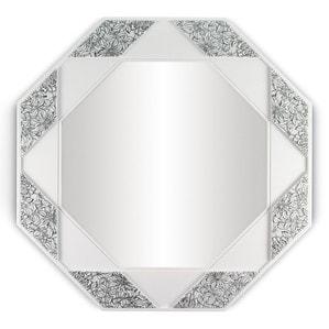 Зеркало восьмиугольное (белый / черный) 80 x 80см