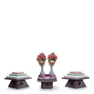 """Статуэтка """"Столы для сладостей и персиковых цветов"""" 16 x 20см"""