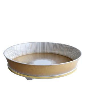 Блюдо круглое глубокое на ножках 45,5см