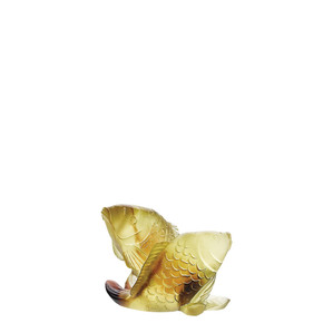 "Статуэтка ""Две рыбы - желтый, коричневый"" 8,2см"
