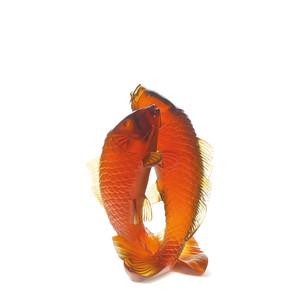 """Статуэтка """"Две рыбы - золотой"""" 25,8см"""