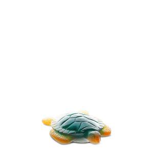 "Статуэтка ""Морская черепаха - зеленый, янтарный"" 11,6см"