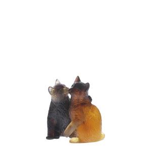 """Статуэтка """"Котята - коричневый, янтарный"""" 10,2см"""