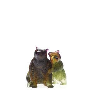 """Статуэтка """"Медведь и медведица - коричневый, зеленый"""" 10см"""