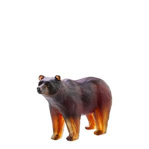 """Статуэтка """"Медведь - коричневый, янтарный"""" 13,4см"""