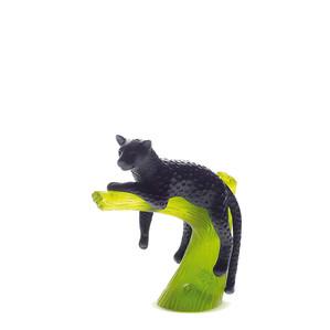 """Статуэтка """"Пантера на дереве - черный, зеленый"""" 15,5см"""