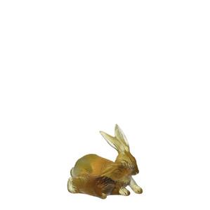 """Статуэтка """"Кролик - янтарный, серый"""" 9,2см"""
