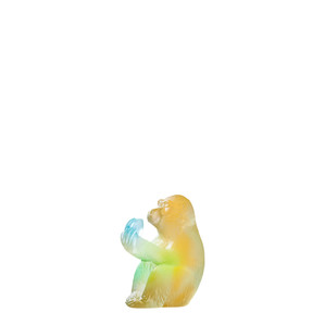 """Статуэтка """"Обезьяна - желтый, голубой"""" 7см"""